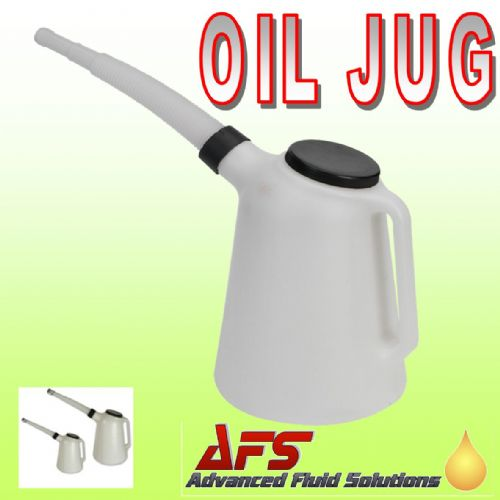 1 Litre Polythene Oil Measuring Jug with Flexible Spout